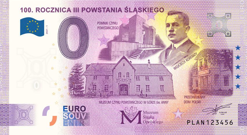 0 Euro 100 Rocznica III Powstania Śląskiego